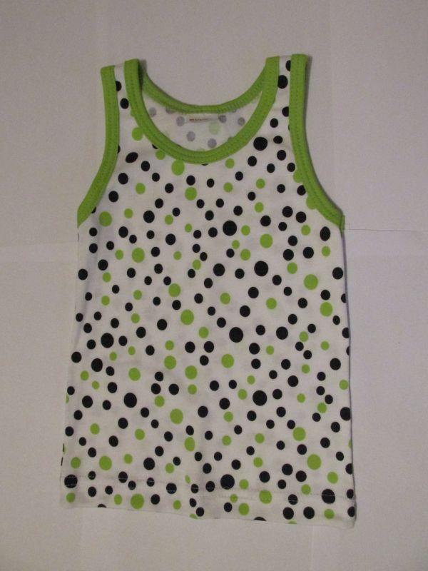 Dívčí košilka DORKA Evona vel. 98 zeleno-černý puntík