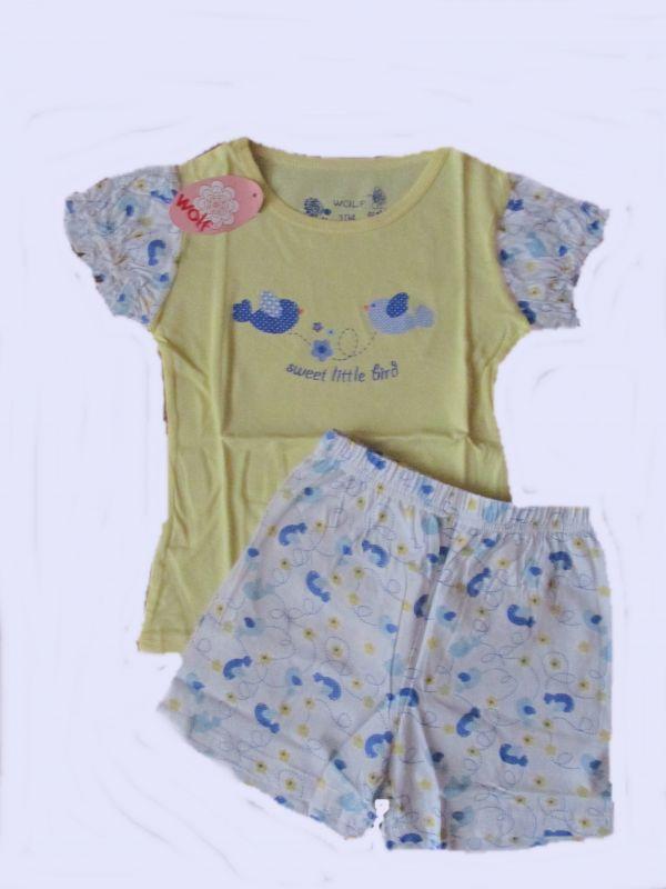 Dívčí pyžamo Wolf žluto-modré,vel. 110-128