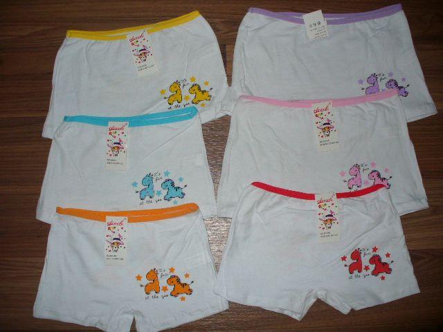 Dívčí spodní kalhotky s nohavičkou,zvířátka, vel. 6-8let