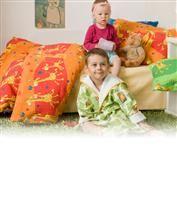 Povlečení krep dětské Dadka Vracov - Žirafa červená 140x200 90x70
