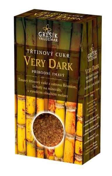 Cukr Very Dark třtinový přírodní tmavý 300g VALDEMAR GREŠÍK