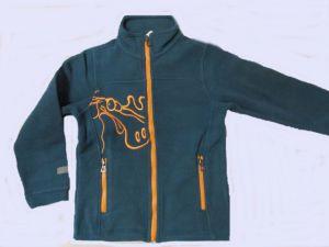 Chlapecká fleesová mikina Wolf modro-zelená, vel.122