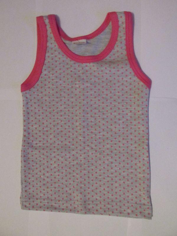 Dívčí košilka DORKA Evona vel. 98 šedo-růžový puntík