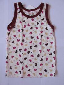 Dívčí košilka DORKA Evona vel. 98 srdíčka