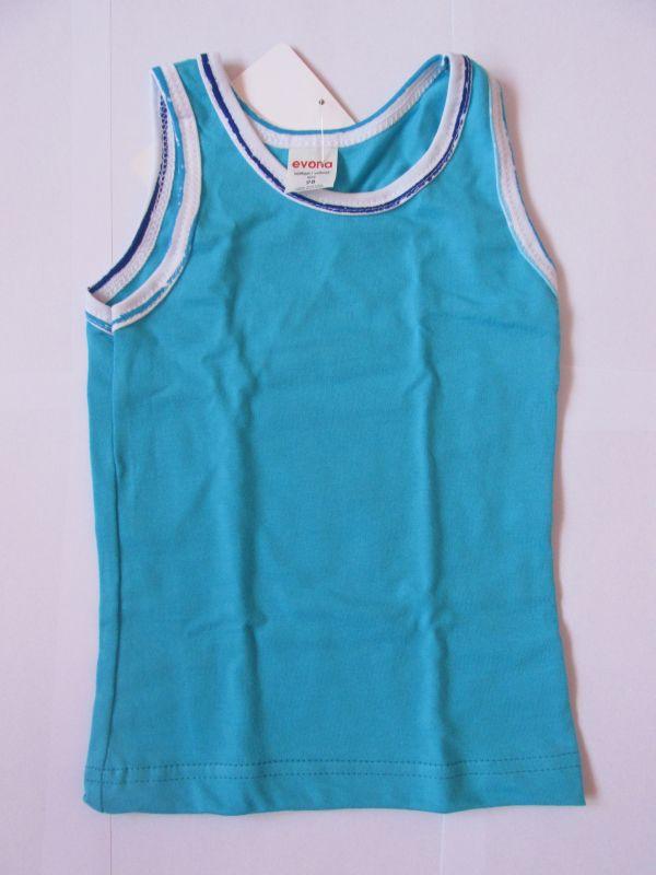 Dívčí košilka DORKA Evona vel. 98 tyrkysová