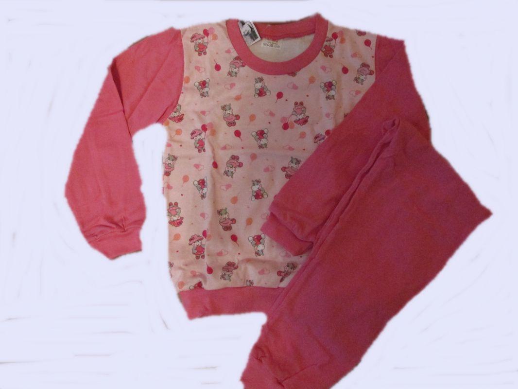 Dívčí pyžamo hroch - růžové, vel.116 Smaragd