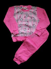 Dívčí pyžamo kočka - růžové, vel.110