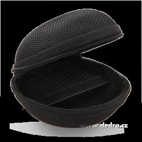 Pouzdro na sluchátka pevné se zipem černé