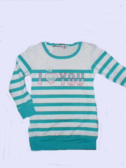 Prodloužené triko/tunika tyrkysová, vel. 116 GOOD CHILDREN