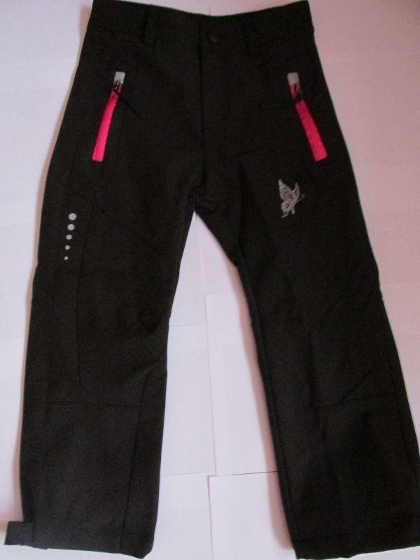 Softshellové kalhoty Kugo,černé, růžový zip II.