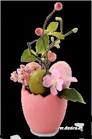 Velikonoční dekorace Květináč s vajíčky růžový