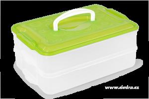 """Box na potraviny """"Buchtonoš"""" 2 x 3500ml - zelený"""