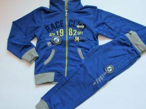 Chlapecká tepláková souprava KUGO (RACE) modrá vel. 110