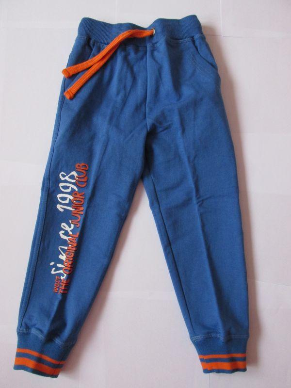 Chlapecké tepláky Wolf oranž.potisk, vel. 98 modrá