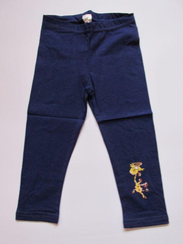 Dětské legíny se žirafou tmavě modré, vel. 92-122 W.D.