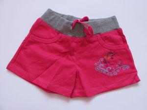 Dívčí kraťasy/šortky Kugo jahodové, vel. 98-110