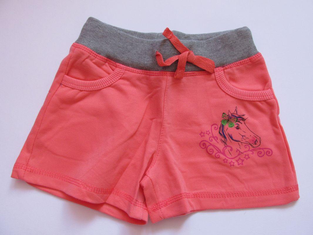 Dívčí kraťasy/šortky Kugo lososové, vel. 104-128