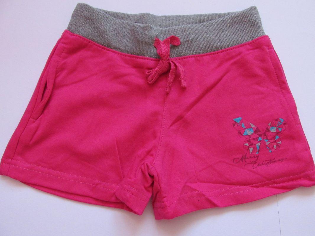 Dívčí kraťasy/šortky Kugo malinové, vel. 116-140