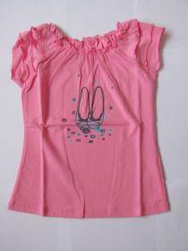 Dívčí tričko se zdobenými rukávky, vel. 98