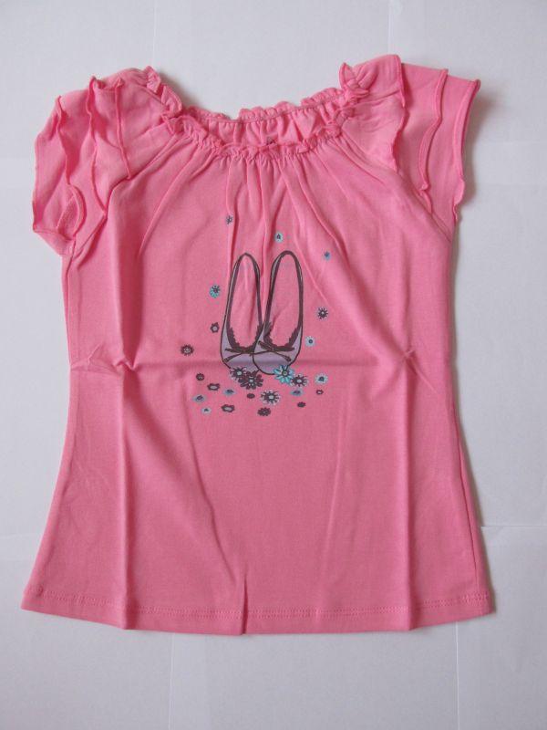 Dívčí tričko se zdobenými rukávky, vel. 98 Wolf