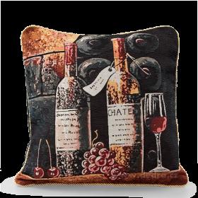 Potah na polštář GOBELINE bottle of wine 45 x 45 cm Dedra