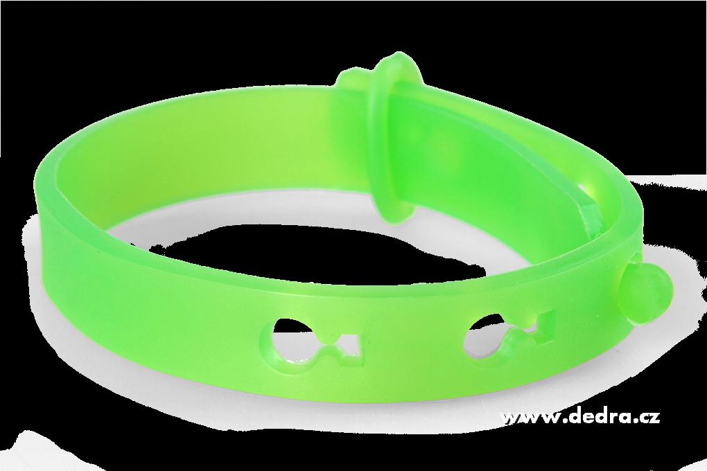 Repelentní náramek k odpuzování komárů a hmyzu - zelený