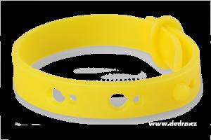 Repelentní náramek k odpuzování komárů a hmyzu - žlutý