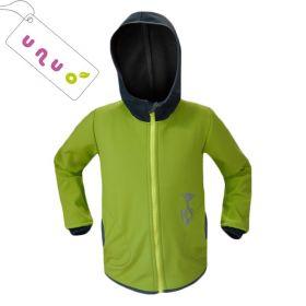 Dětská softshellová bunda Unuo BASIC limetka