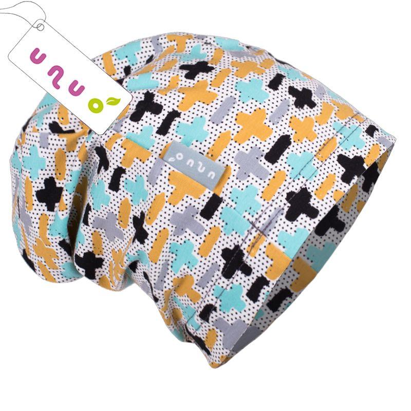 Dětská úpletová čepice Unuo mathematics barevná