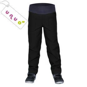 Dětské softshellové kalhoty zateplené Unuo BASIC černé
