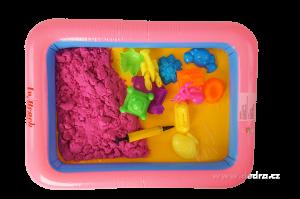 Kouzelný písek PUFI fialovo-růžový Dedra