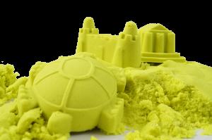 Kouzelný písek PUFI zeleno-žlutý Dedra