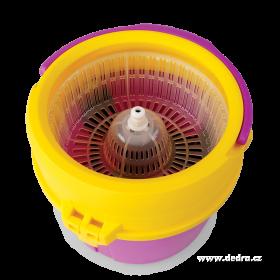 Super mop výtahový s vířivou pračkou - fuchsiovo-žlutý Dedra