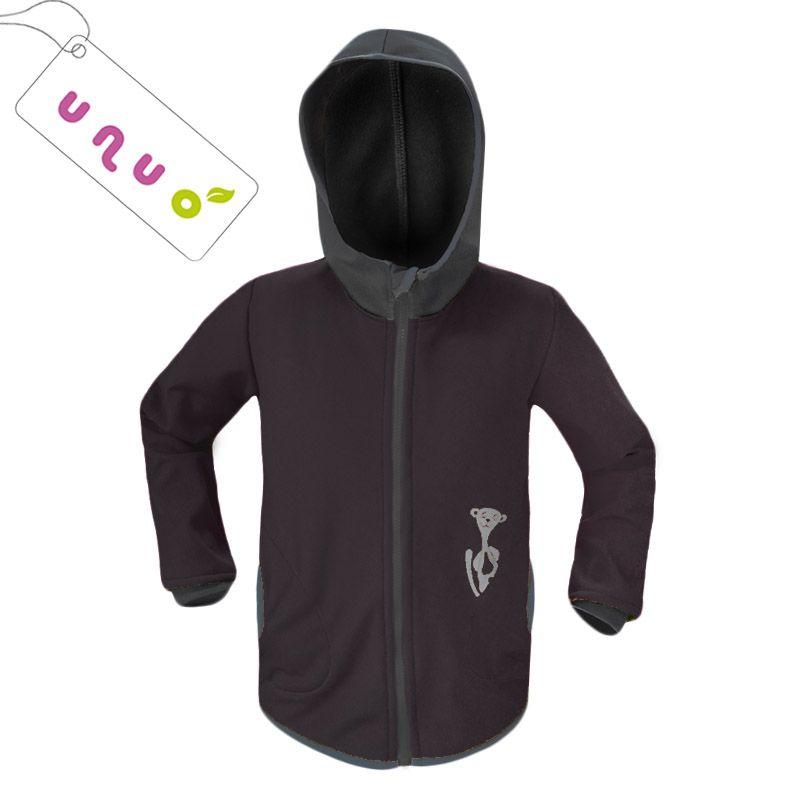 Dětská softshellová bunda Unuo BASIC černá