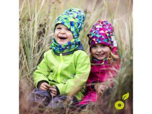 Dětská softshellová bunda Unuo BASIC jahodová