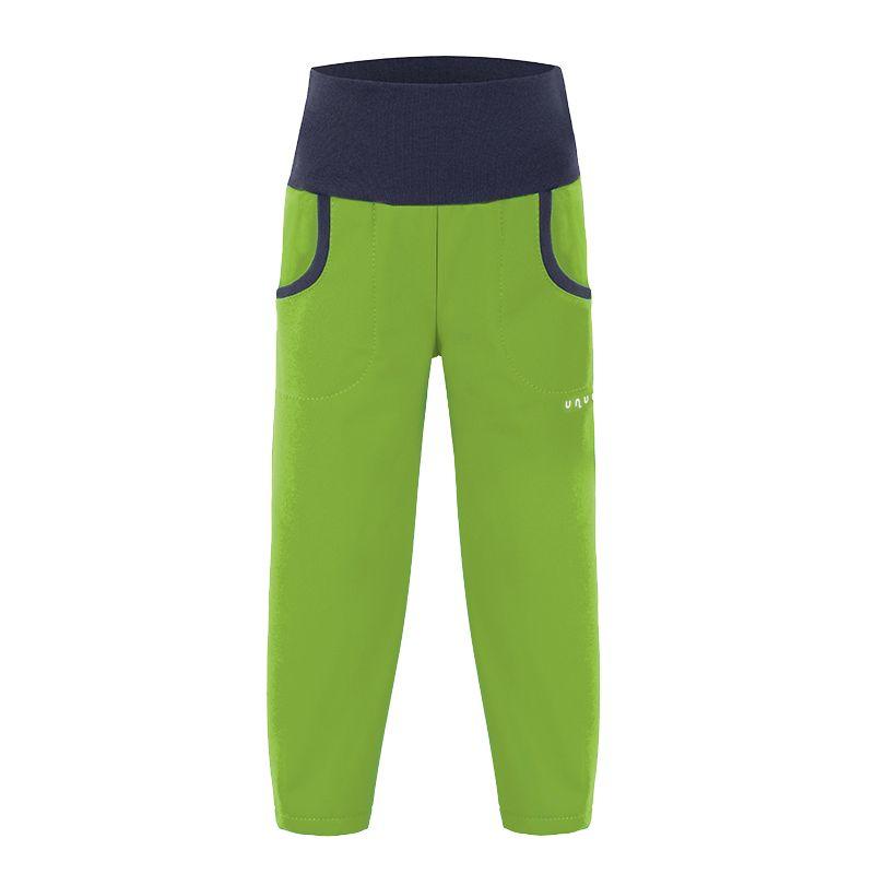 Dětské letní softshellové kalhoty Unuo limetka