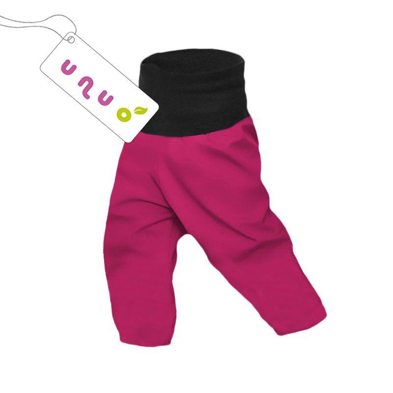 Dětské softshellové kalhoty Unuo SLIM malina vel. 98 (2 c77b7ed9d9