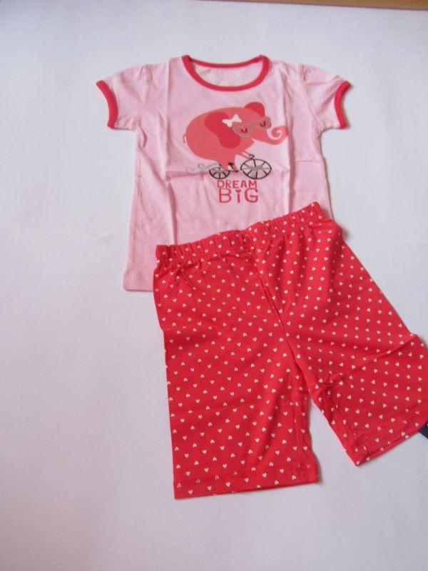 Dívčí letní pyžamo Wolf růžové