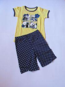 Dívčí letní pyžamo Wolf žluto-modré