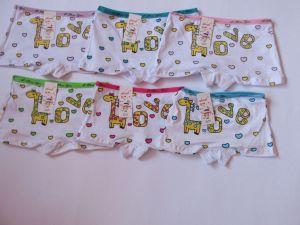 Dívčí spodní kalhotky s nohavičkou ŽIRAFA LOVE vel. 6-8let