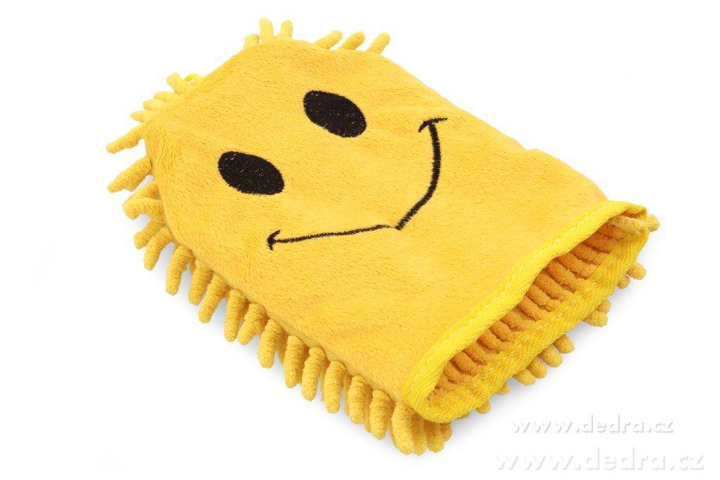 Sasanka - rukavice žlutý smajlík Dedra