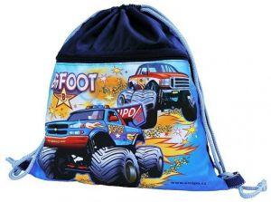 Školní sáček s kapsou na zip EMIPO Bigfoot