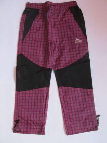 Šusťákové kalhoty Kugo s bavlněnou podšívkou růžové
