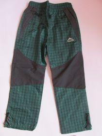 Šusťákové kalhoty Kugo s bavlněnou podšívkou zelené