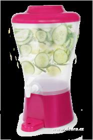 Čepochladník dávkovač nápojů 8l růžový