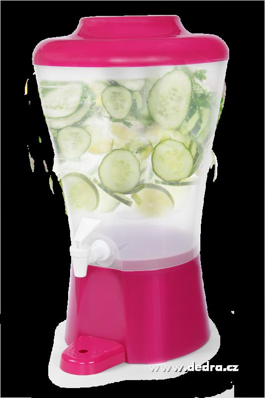 Čepochladník dávkovač nápojů 8l růžový Dedra