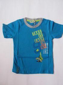 Chlapecké tričko bagr -  modré