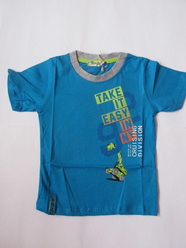 Chlapecké tričko bagr - modré KUGO