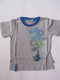 Chlapecké tričko bagr -  šedé