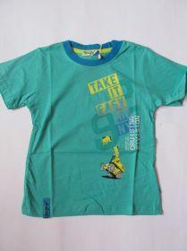 Chlapecké tričko bagr -  zelené
